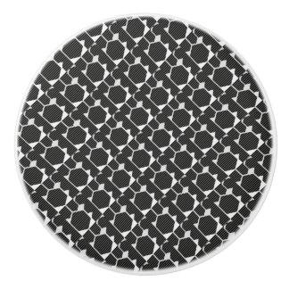 白黒小型六角形の引出しのノブ セラミックノブ