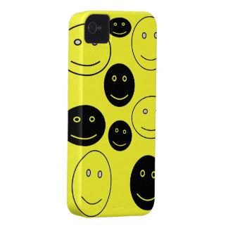 白黒幸せな顔 Case-Mate iPhone 4 ケース