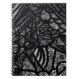 白黒幾何学的なフラクタル ノートブック