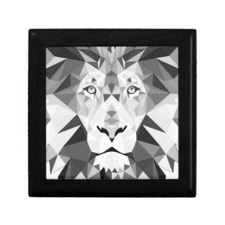 白黒幾何学的なライオン ギフトボックス