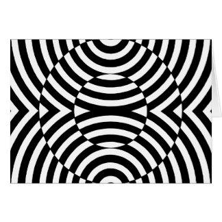 白黒幾何学的な錯覚002 カード