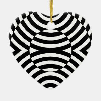 白黒幾何学的な錯覚002 セラミックオーナメント