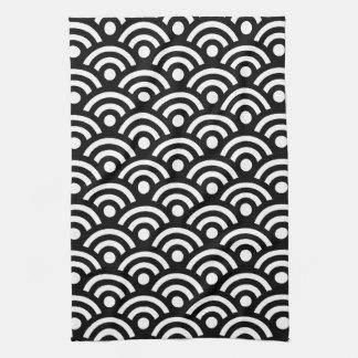 白黒幾何学的 キッチンタオル