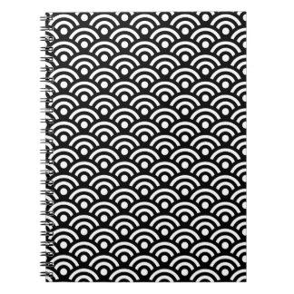 白黒幾何学的 ノートブック