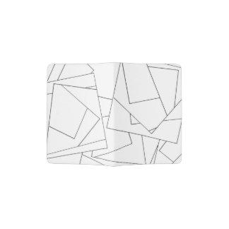 白黒幾何学的-モダンなインクスケッチ パスポートカバー