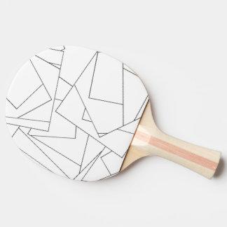 白黒幾何学的-抽象的なインクスケッチ 卓球ラケット