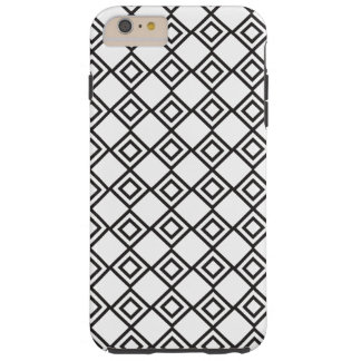 白黒幾何学的 TOUGH iPhone 6 PLUS ケース