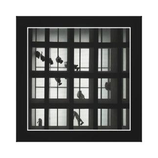 白黒建築の写真撮影 キャンバスプリント