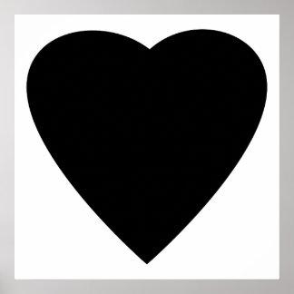 白黒愛ハートの設計 ポスター