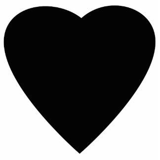 白黒愛ハートの設計 写真彫刻オーナメント