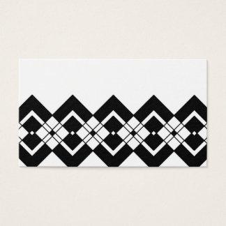 白黒抽象的で幾何学的なパターン-。 名刺