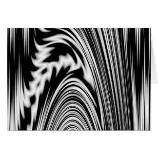 白黒抽象的なねじれ カード