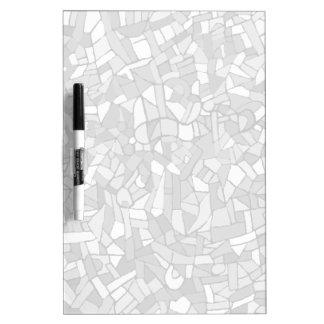 白黒抽象的なモザイク ホワイトボード