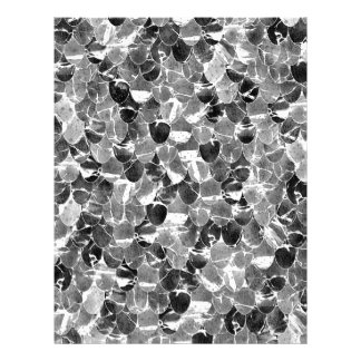 白黒抽象的な人魚はパターンをはかりで測ました レターヘッド