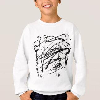 白黒抽象芸術 スウェットシャツ