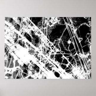 白黒抽象芸術 ポスター