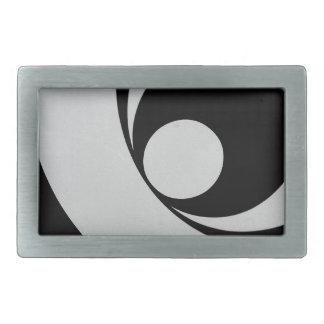 白黒抽象芸術brackground. 長方形ベルトバックル