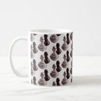 白黒担保パターンチェス コーヒーマグカップ