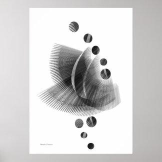 白黒敏感なプリント ポスター