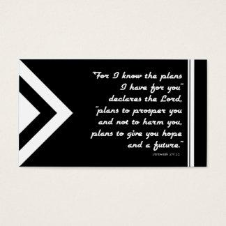 白黒救助の福音地域の計画 名刺