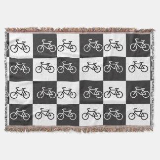 白黒数々のバイク- スローブランケット