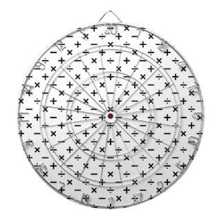 白黒数学の記号- ダーツボード