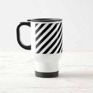 白黒斜めの縞 トラベルマグ