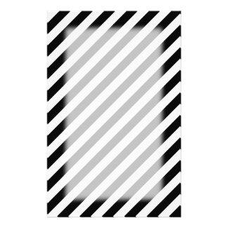 白黒斜めの縞 便箋