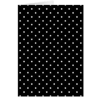 白黒星パターン カード