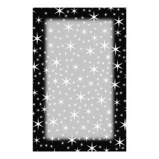 白黒星パターン 便箋