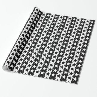 白黒星条旗パターン2 ラッピングペーパー