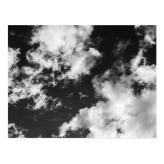 白黒曇った天候 ポストカード