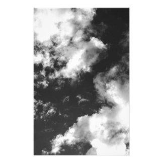 白黒曇った天候 便箋