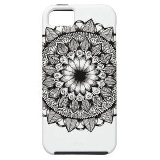 白黒曼荼羅項目 iPhone SE/5/5s ケース