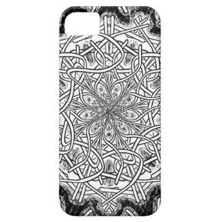 白黒曼荼羅 iPhone SE/5/5s ケース