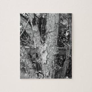 白黒木の自然の写真のパズル ジグソーパズル