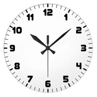 白黒柱時計 ラージ壁時計