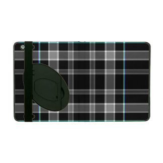 白黒格子縞のiPadのフォリオの箱 iPad ケース