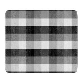 白黒格子縞 カッティングボード