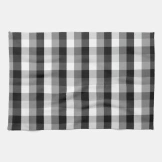 白黒格子縞 キッチンタオル