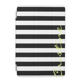 白黒横は名前と縞で飾ります iPad MINIカバー