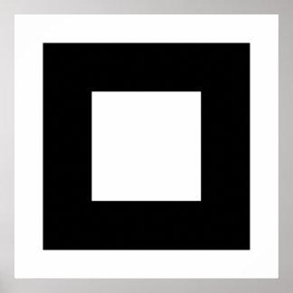 白黒正方形の設計 ポスター