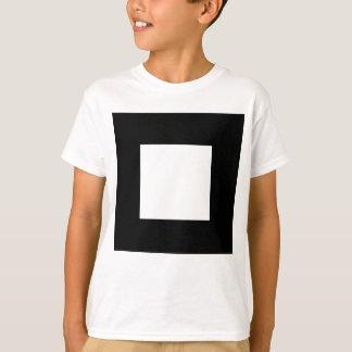 白黒正方形の設計 Tシャツ