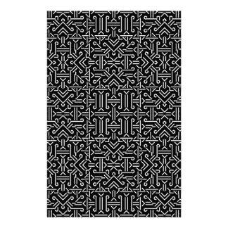 白黒民族の鋭い幾何学的 便箋