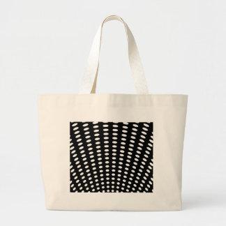 白黒水玉模様のバッグ ラージトートバッグ