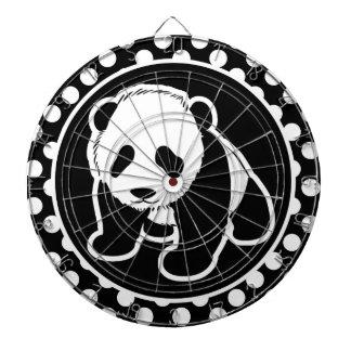 白黒水玉模様のパンダ ダーツボード