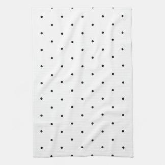白黒水玉模様の点 キッチンタオル