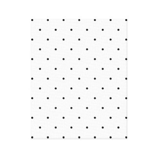 白黒水玉模様の点 キャンバスプリント