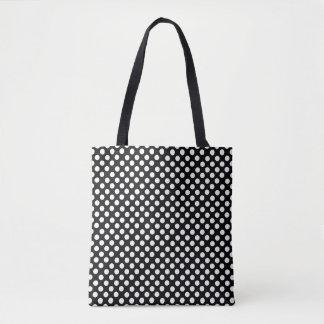 白黒水玉模様パターントートバック トートバッグ