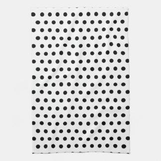 白黒水玉模様パターン。 むらがある キッチンタオル